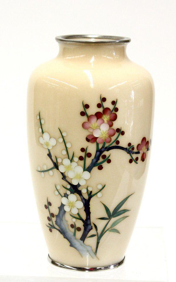 Japanese Cloisonné Vase, Ando Jubei