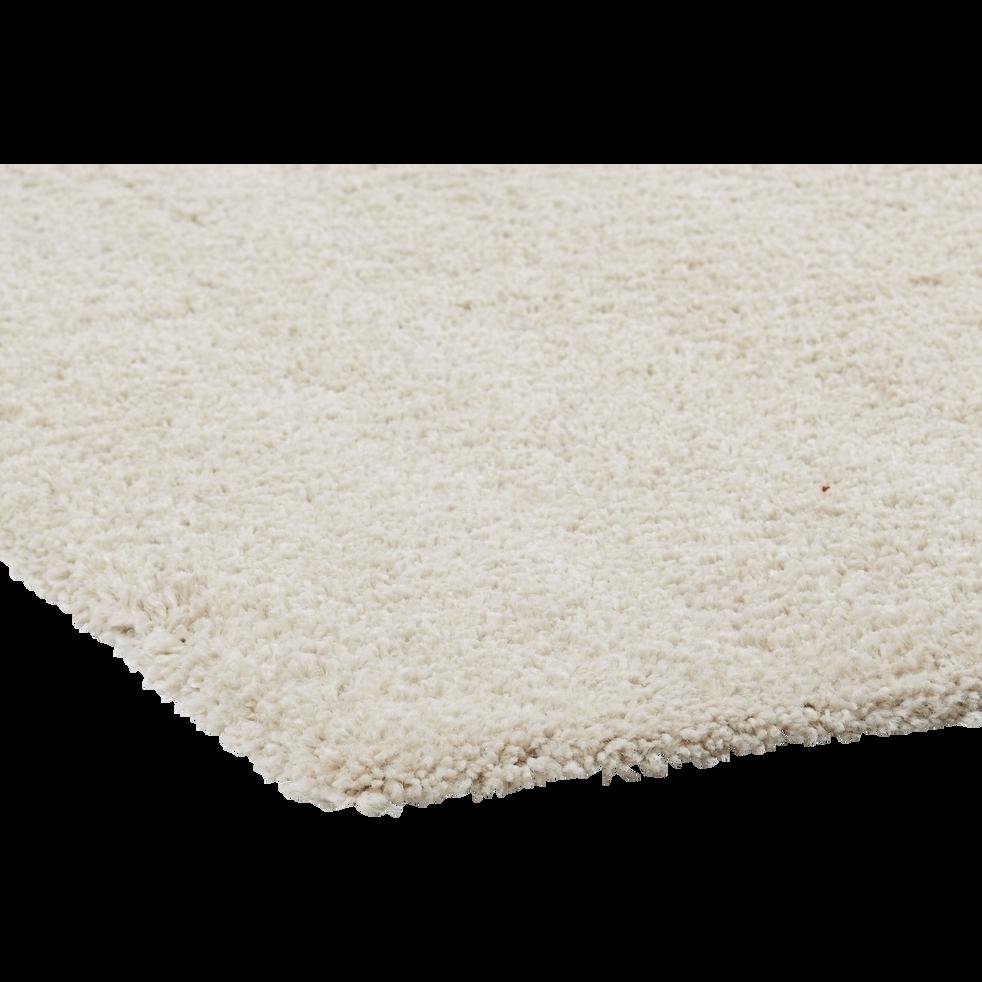 Tapis Long Poil Blanc tapis à poils longs blanc écru 200x290cm - kris - 200x290 cm