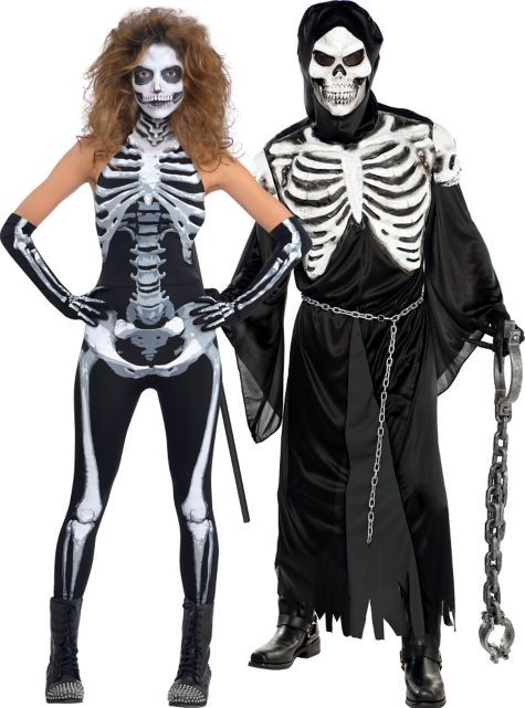 scary skeleton couples costumes party city