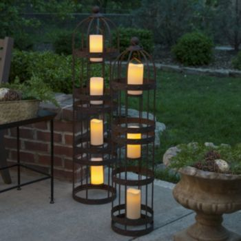 Floor Lanterns 2-piece Set