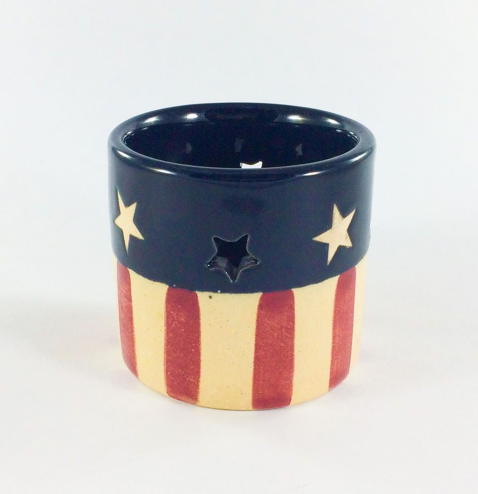 Red White Blue American Flag Stars And Stripes Tea Light