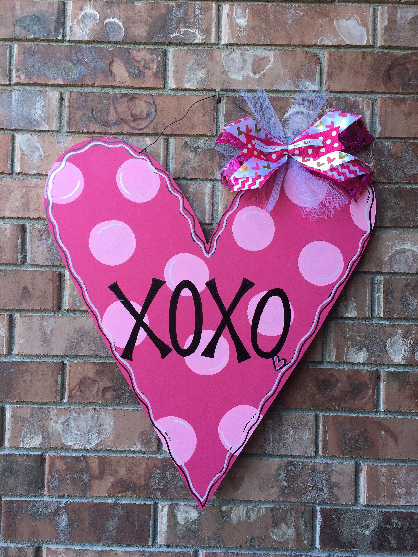 Valentines Door Hanger Valentines Wreath Valentines Decor Heart