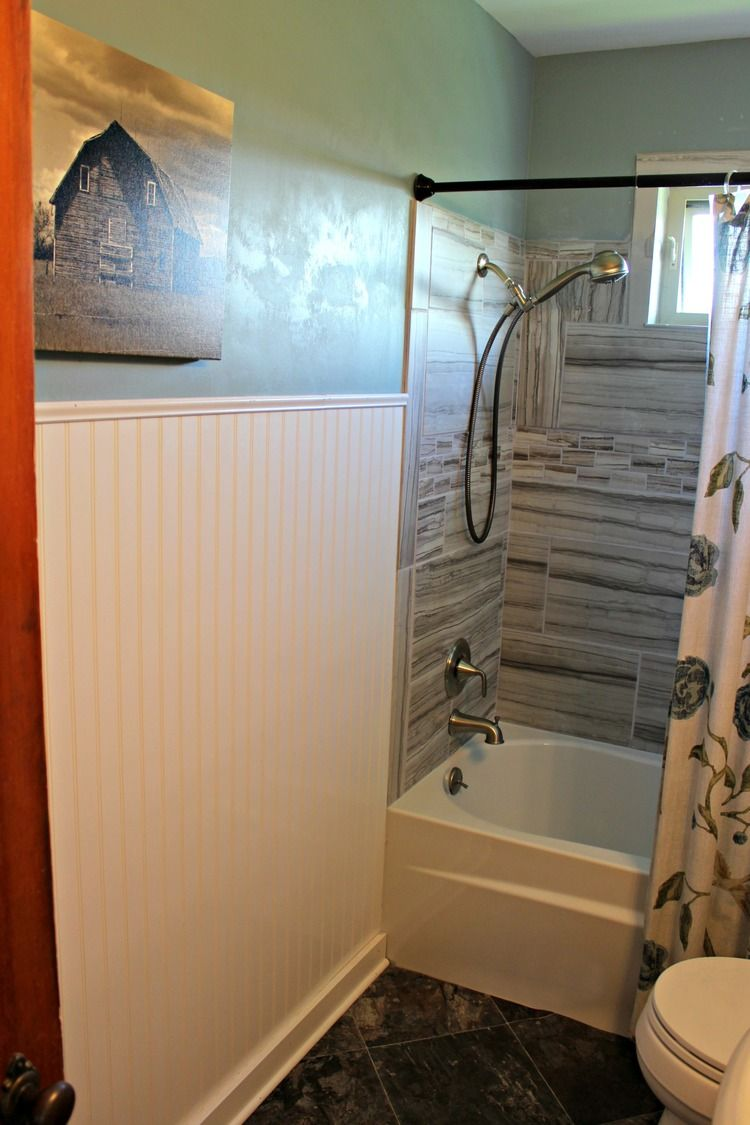 We renovated the bathroom in the little old farmhouse!