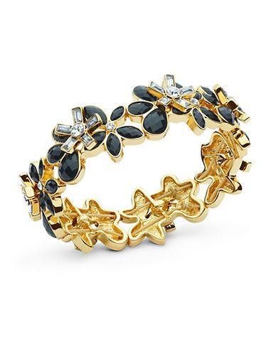 Anne Klein Epoxy Bangle Bracelet Women's Black