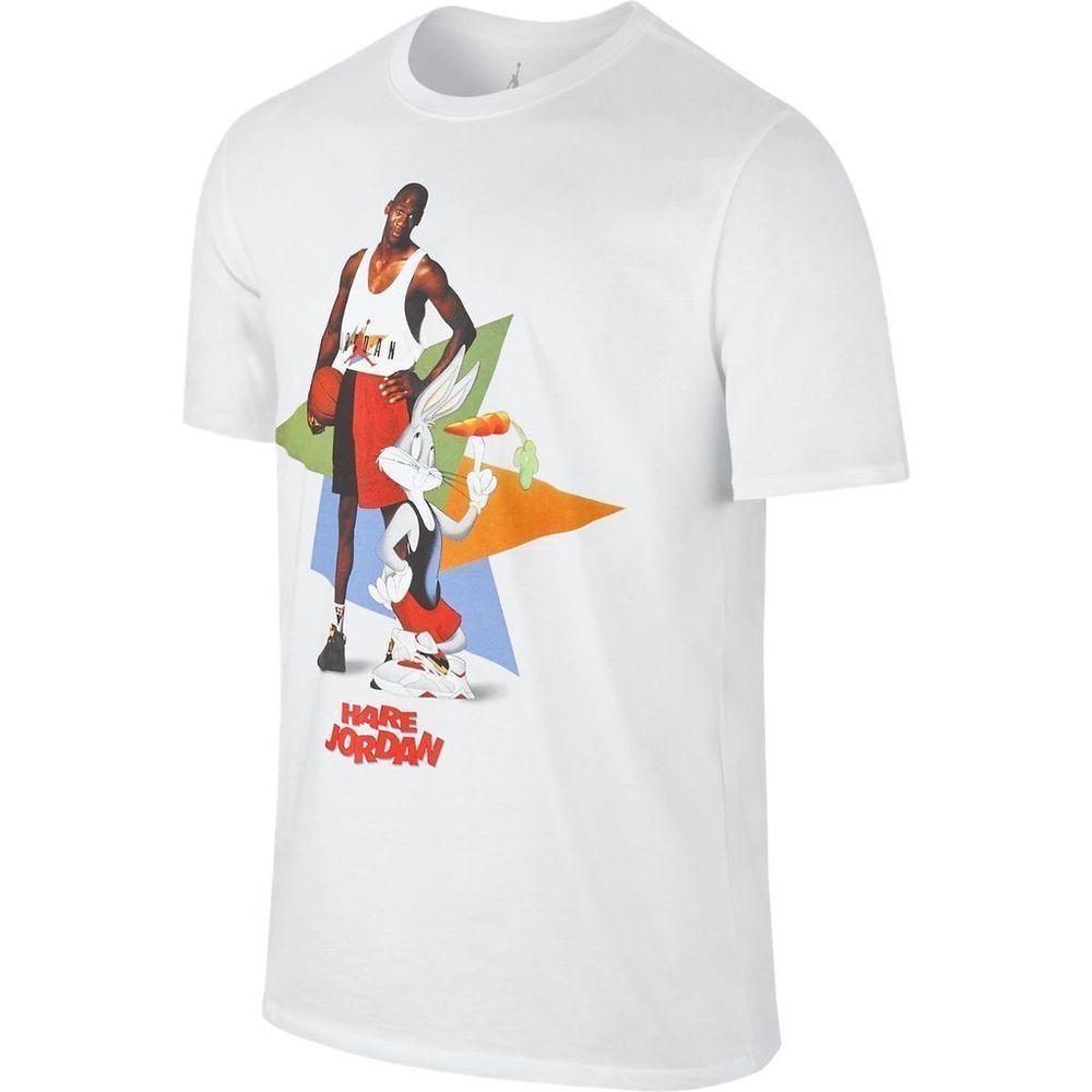 4a0cec670e14e8 Nike Air Jordan 7 VII Hare WB Poster MJ Bugs T-Shirt White Sz S Small  658559-100  Jordan  GraphicTee