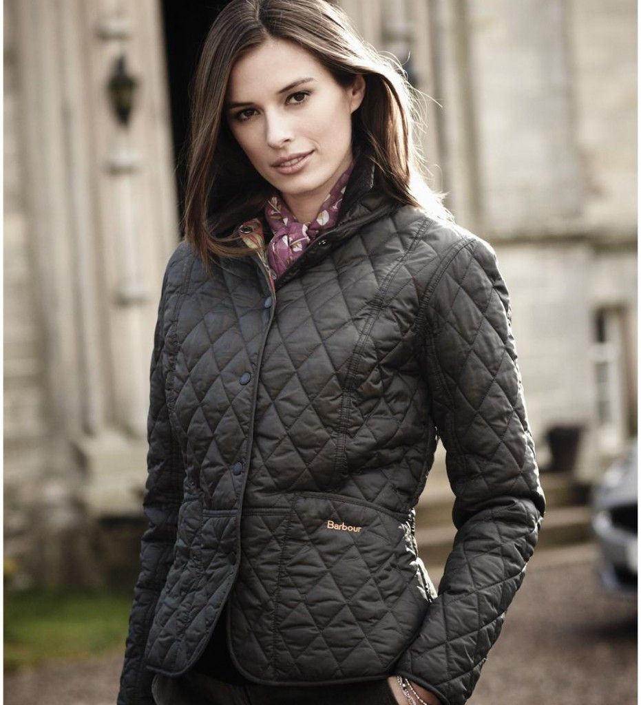 Ladies quilted spring jacket