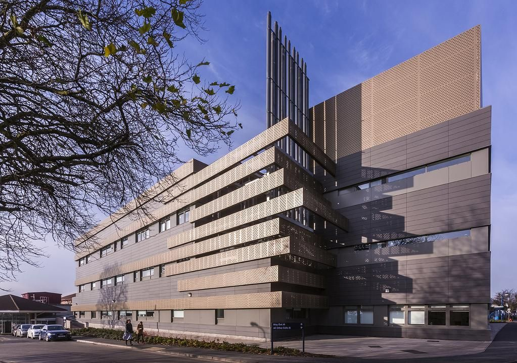 Hospital in uk by keppie design equitone facade materials for Archi facade