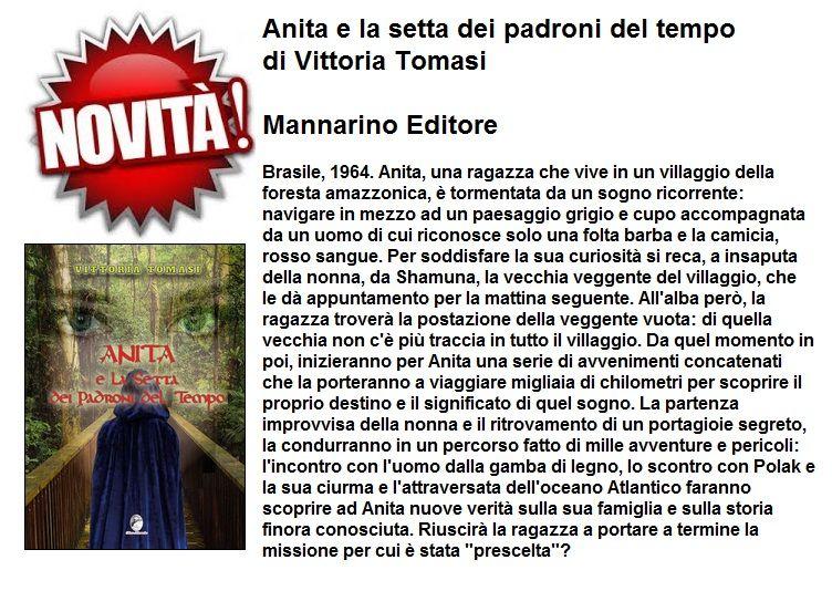 Anita e la setta dei padroni del tempo - Mannarino Editore