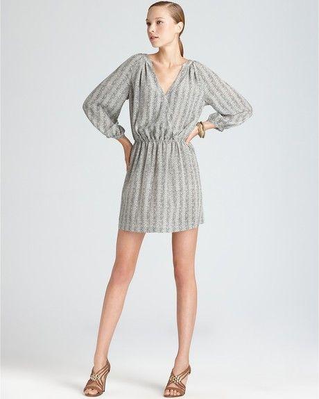 Joie Gray Dress Molly V Neck