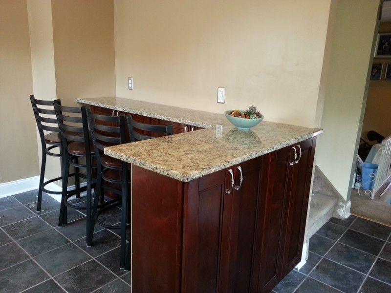 Superior Breakfast Bar With Plenty Of Seating. Created Using Wall Cabinets From Our  Bordeaux Shaker Cabinet Line.