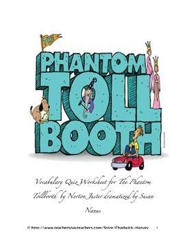 the phantom tollbooth worksheets pdf