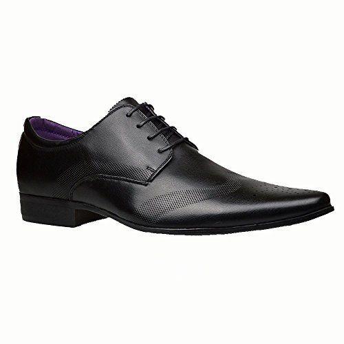 Chaussures Pour Hommes Neuves Cuir Noir Habillées Élégantes Robe taille 39 40 41 42 43 44 fbKihO