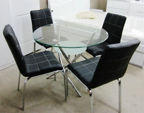 38+ Round glass dining table and chairs black Best Seller