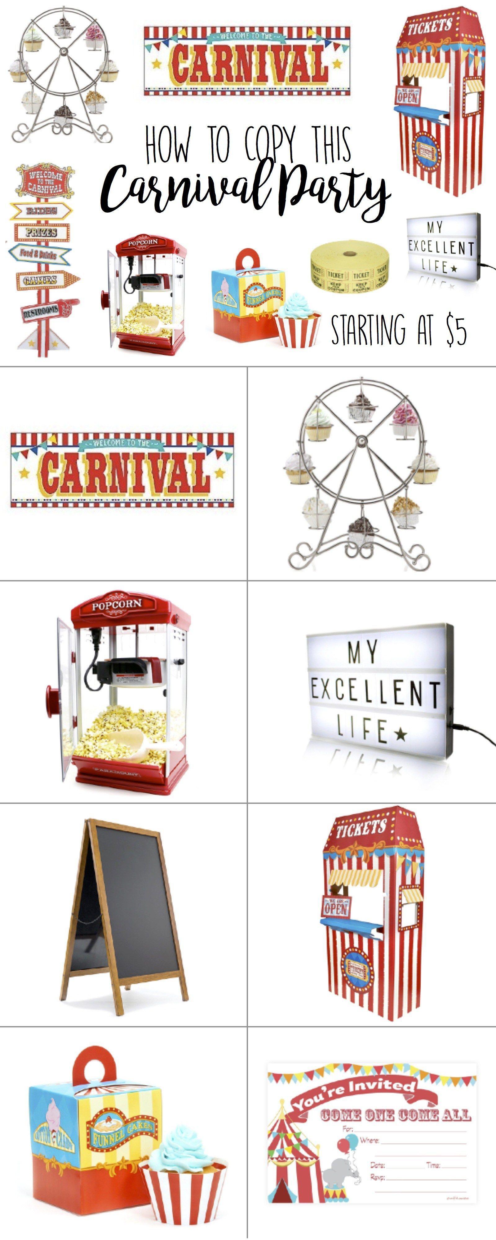 Circus Birthday Party, Carnival Birthday Party, Theme, Ideas ...