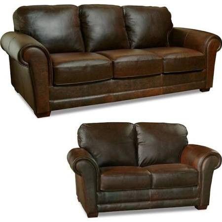 Luke Leather   Mark 2 Piece Leather Sofa Set   LUK MARK SL