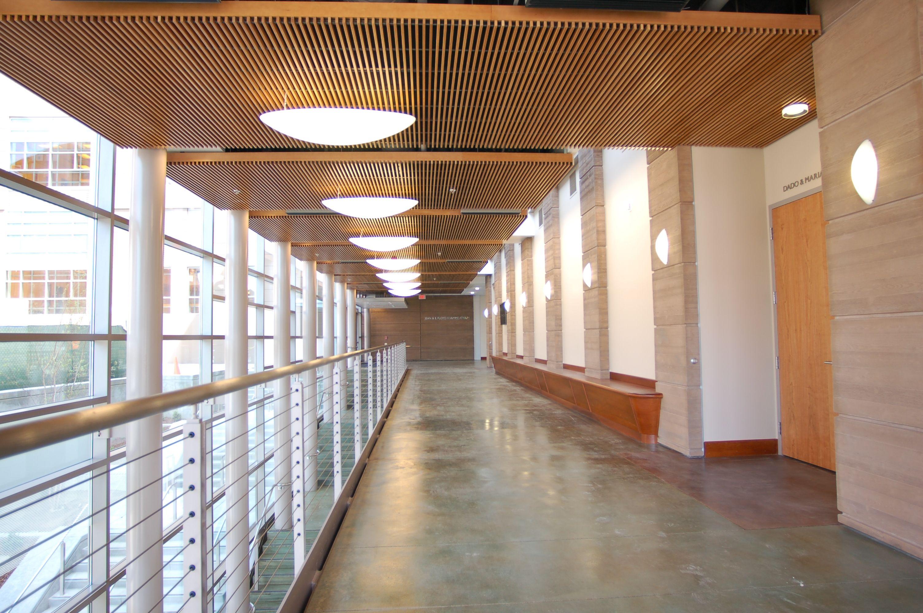 Interior vertical wood slats wall google search office design inspiration pinterest wood - Wood slat ceiling system ...