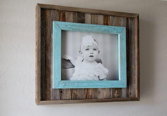 Rustic Slat Frame With Blue Overlay By Hcwoodworking On Etsy