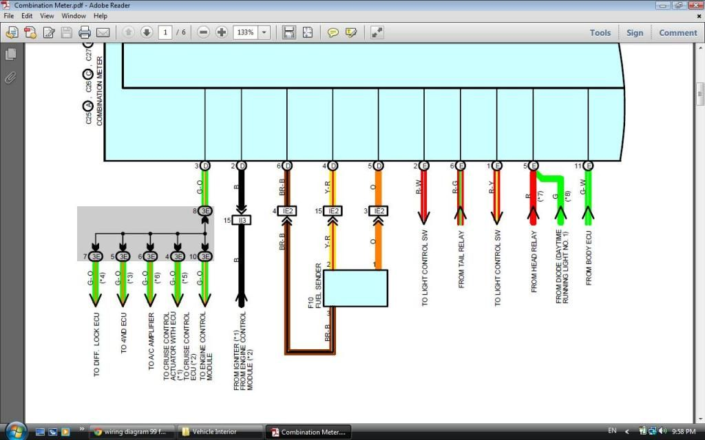 wiring diagram 99 fuel sending unit - Toyota 4Runner Forum ... on