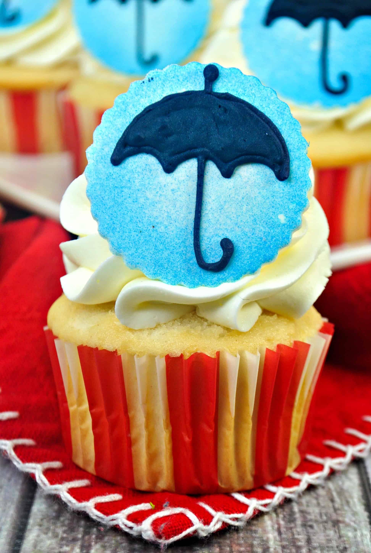 Mary Poppins Vanilla Cake Mix Cupcakes Recipe Vanilla Cake Mixes Cake Mix Cupcakes Homemade Fondant