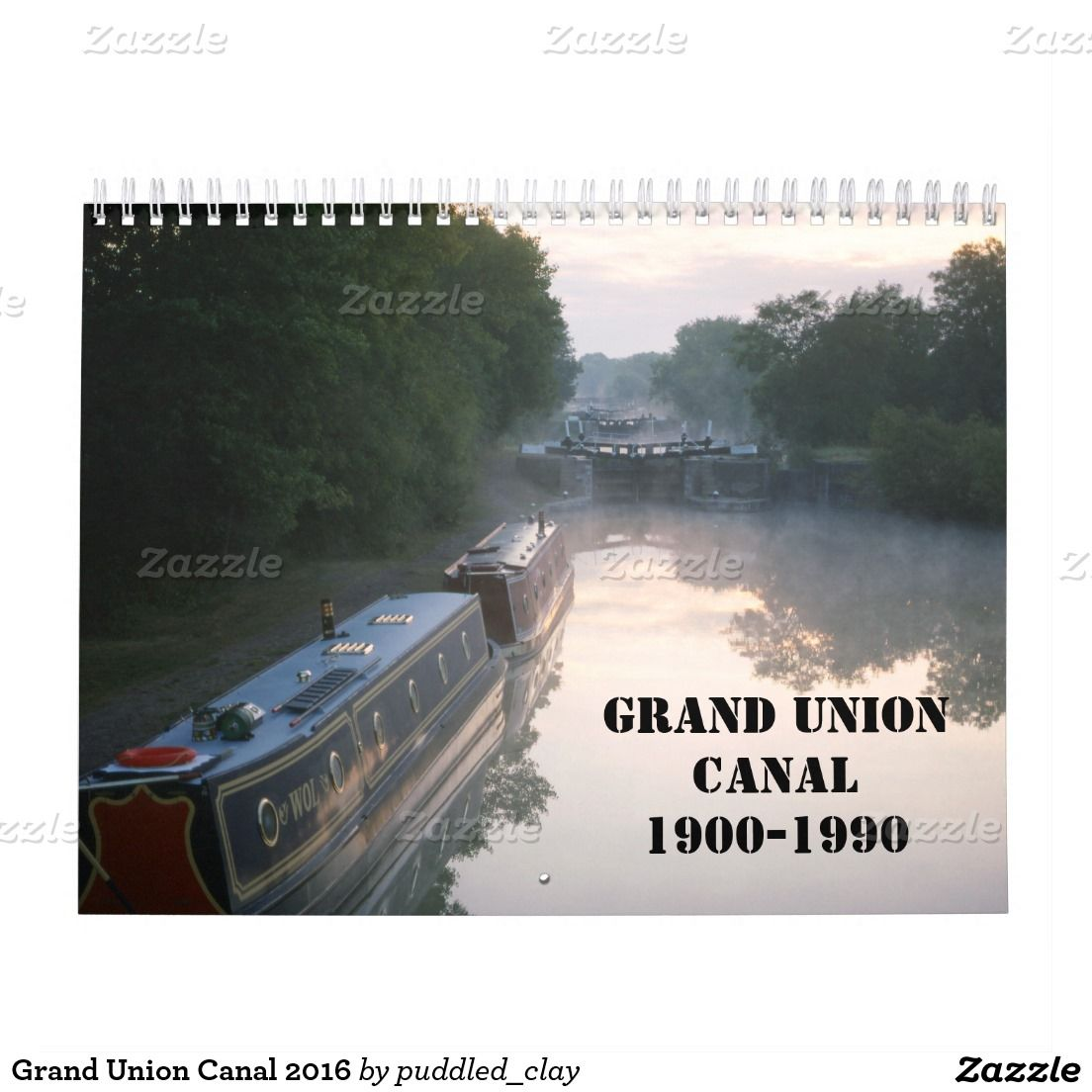 Grand Union Canal 2016 Calendar #narrowboats #canals