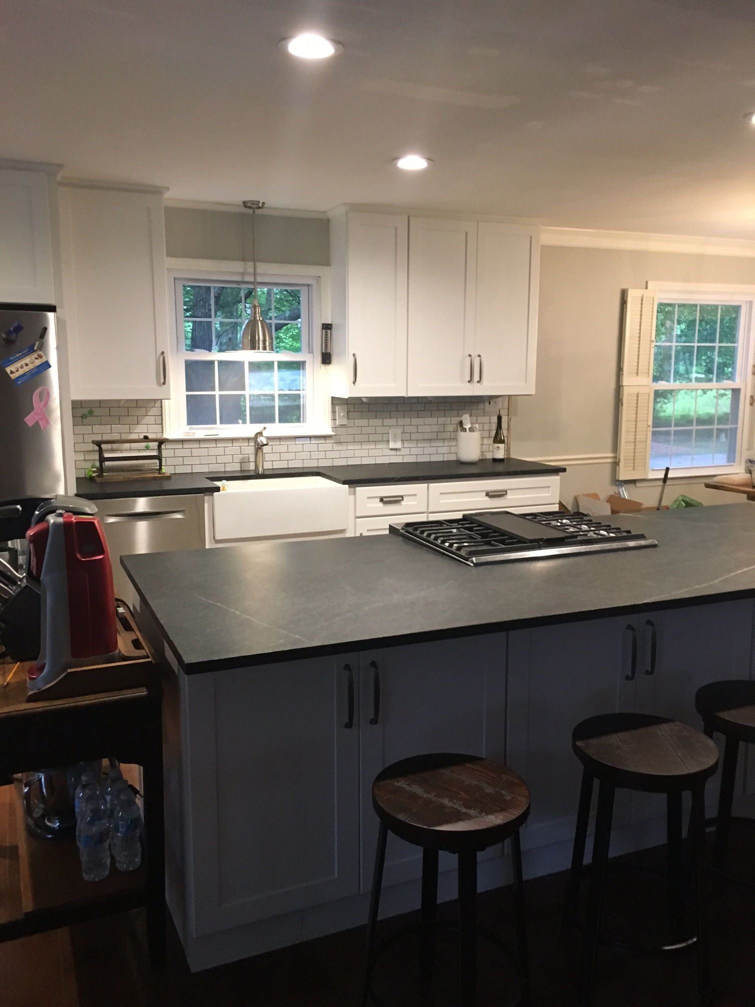 Kitchen Remodel By Lois W Of Durham Nc We Gutted An Old Galley Kitchen With Harvest Gold Appliances And Added All New Cabinets From Surplus Warehouse Rincon