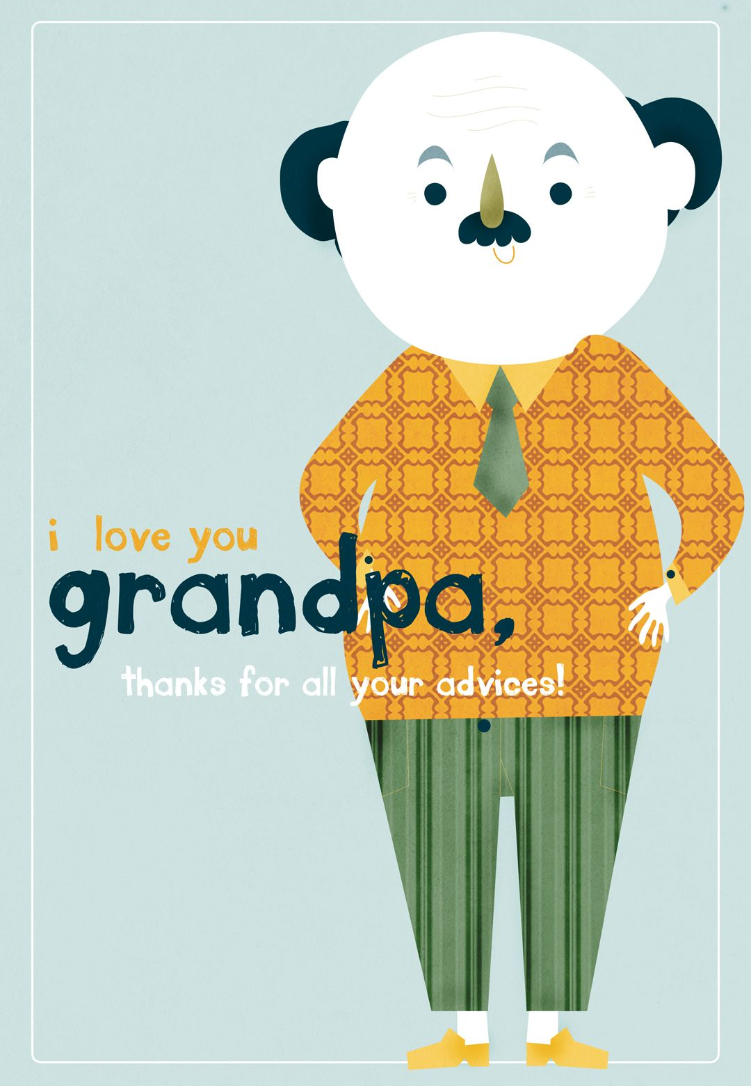 Free Printable I Love You Grandpa Greeting Card Grandparents Day Cards Dad Day Cards