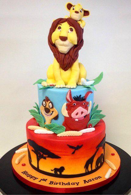 Lion King Cake Kids Birthday Cakes Pinterest Birthday cakes