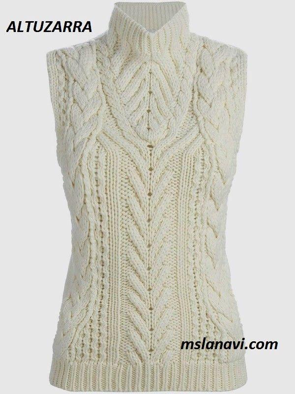 Вязаный свитер спицами от ALTUZARRA | Dos agujas | Pinterest ...