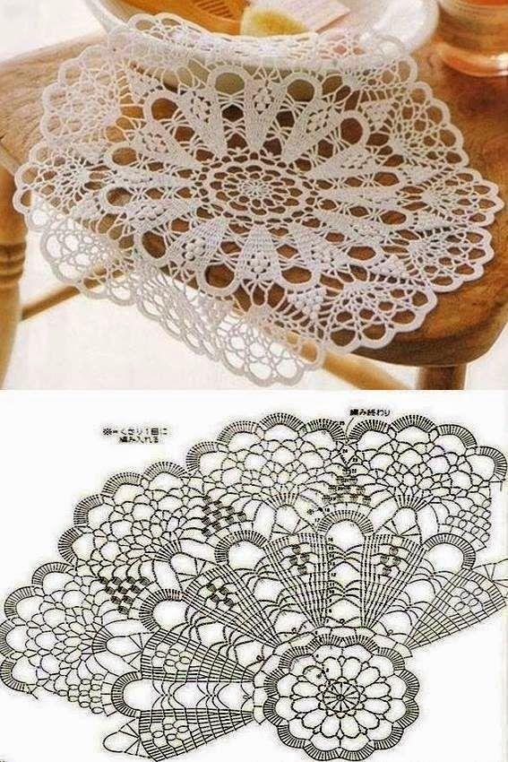 centro schema rotondo uncinetto | Hobby lavori femminili - ricamo - uncinetto - maglia