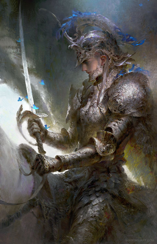 Silver Knight,  Guangjian  Huang  on ArtStation at https://www.artstation.com/artwork/silver-knight