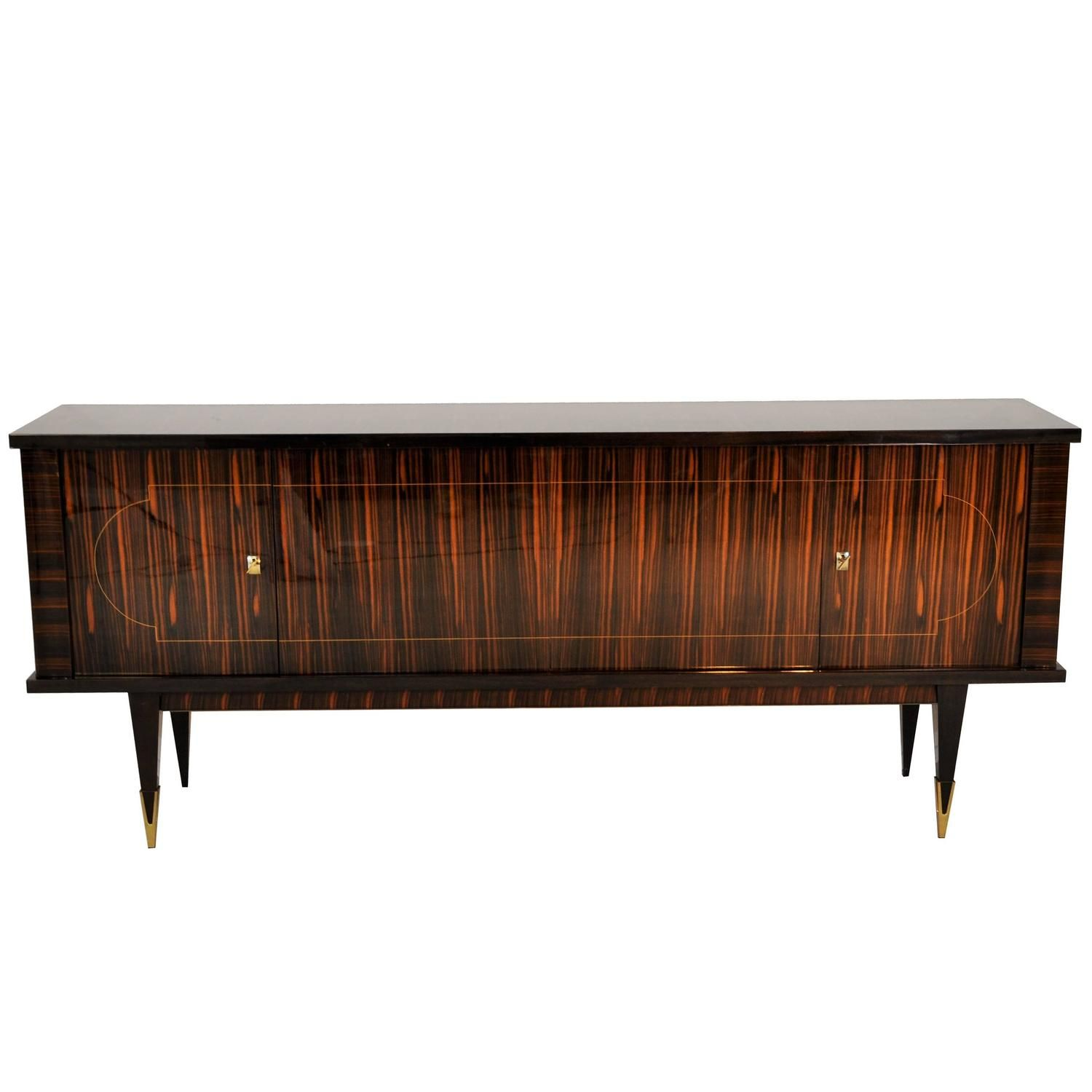 1920s Art Deco Macassar Sideboard from France