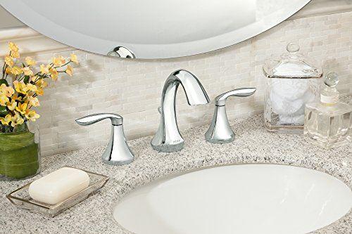 Moen T6420 Eva Two Handle High Arc Bathroom Faucet Without Valve Chrome Widespread Bathroom Faucet Bathroom Faucets Best Bathroom Faucets
