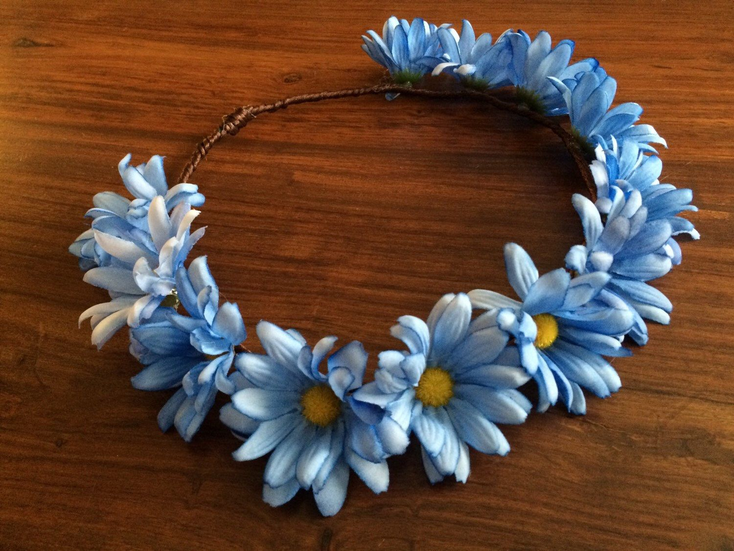 Sale Flower Crown Headband Blue Flower By Naturvibes On Etsy Https