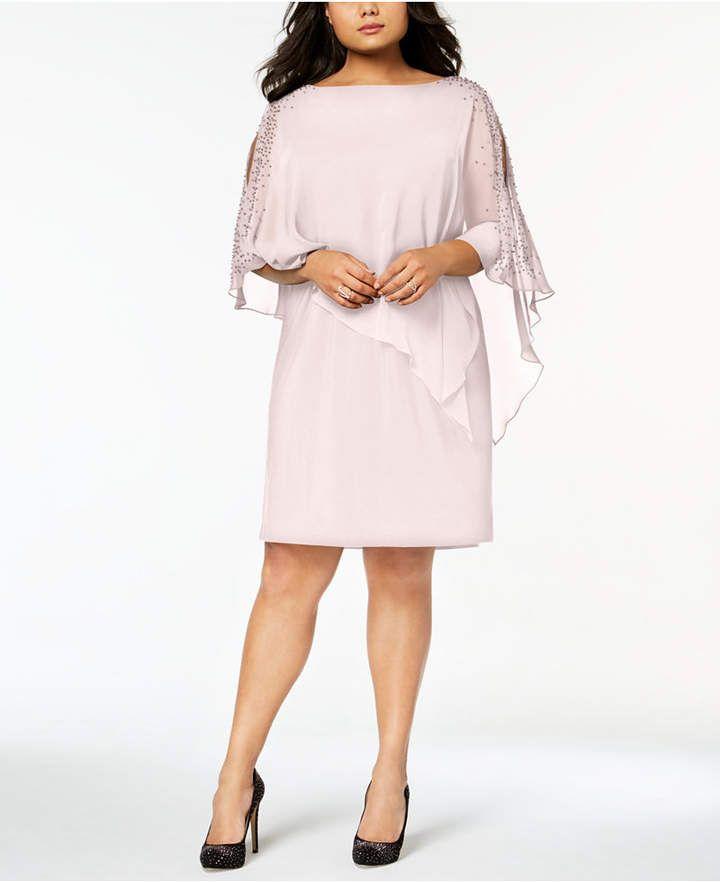 e81a3cce3e1 Xscape Plus Size Beaded Chiffon Popover Dress  affiliatelink ...