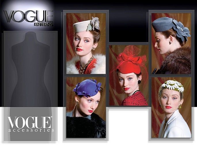 Vogue vintage hat pattern V8008 | Costume ideas | Pinterest ...