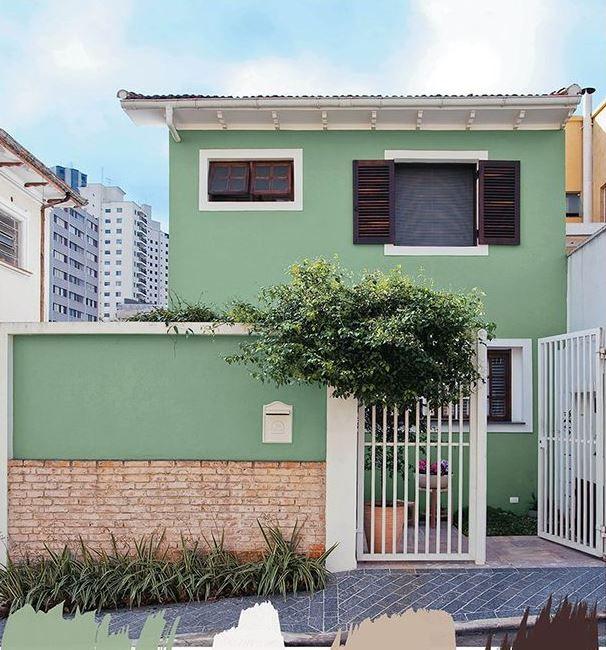 Imagem 37 fachada casas pintadas rejas para casas e - Fachadas de casas pintadas ...