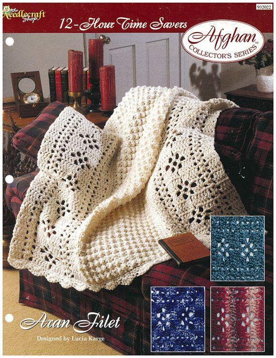 Aran Filet Afghan Crochet Pattern - $1.50   Fai da te e hobby che ...