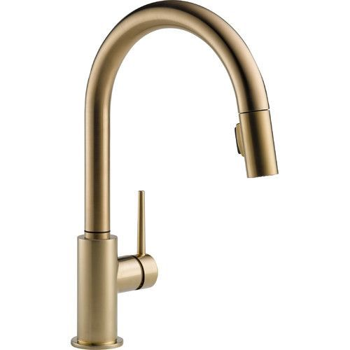 Trinsic Pull Down Single Handle Kitchen Faucet With Magnatite Docking And Diamond Seal Technology Touch Kitchen Faucet Brass Kitchen Faucet Kitchen Faucet