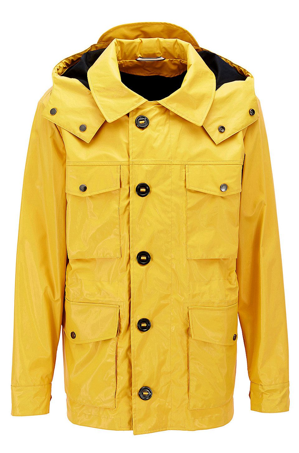 Hugo Boss Coated Cotton Field Jacket With Detachable Hood Yellow Casual Jackets From Boss For Men In The Official Hugo Boss On Field Jacket Jackets Boss Coat [ 1456 x 960 Pixel ]