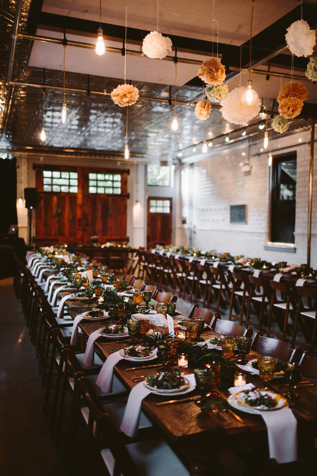 Moody Wedding Decor Firehouse Chicago Moody Moody Tones Moody Color Palette Photo By O Moody Wedding Decor Wedding Decor Inspiration Wedding Catering