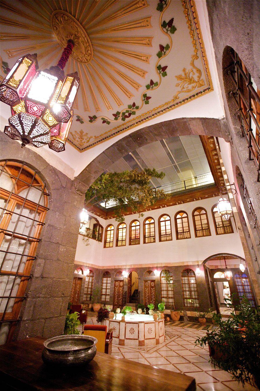 Courtyard Beit Zafran Hotel De Charme Damascus Syria With