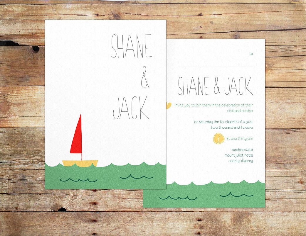 These Summer Themed Invitations Are Super Cute For A Samesexwedding