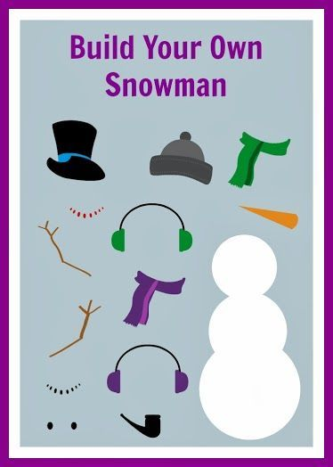 Free Build Your Own Snowman Printable | Snowman, Quiet book ...
