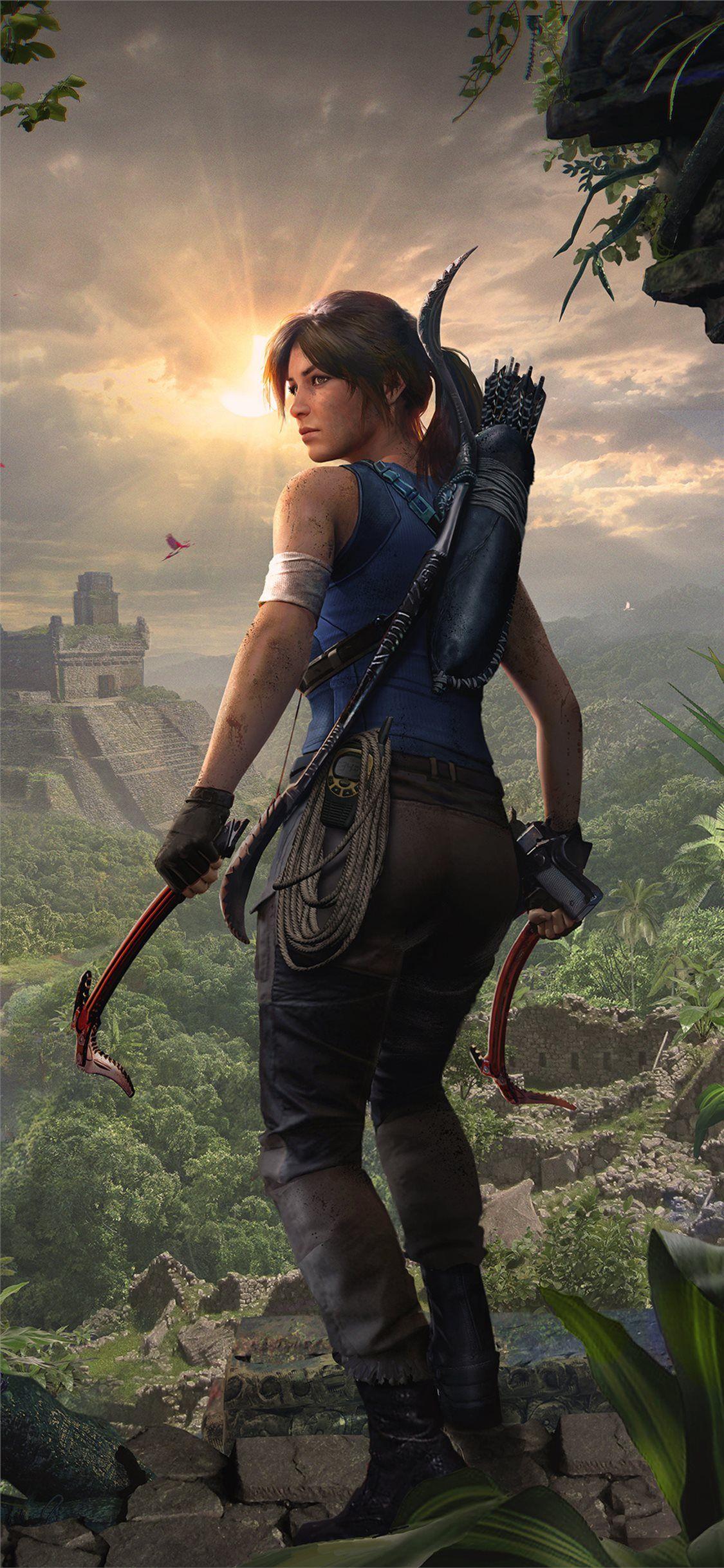 2019 Shadow Of The Tomb Raider Lara Croft 4k Iphone 11 Wallpapers