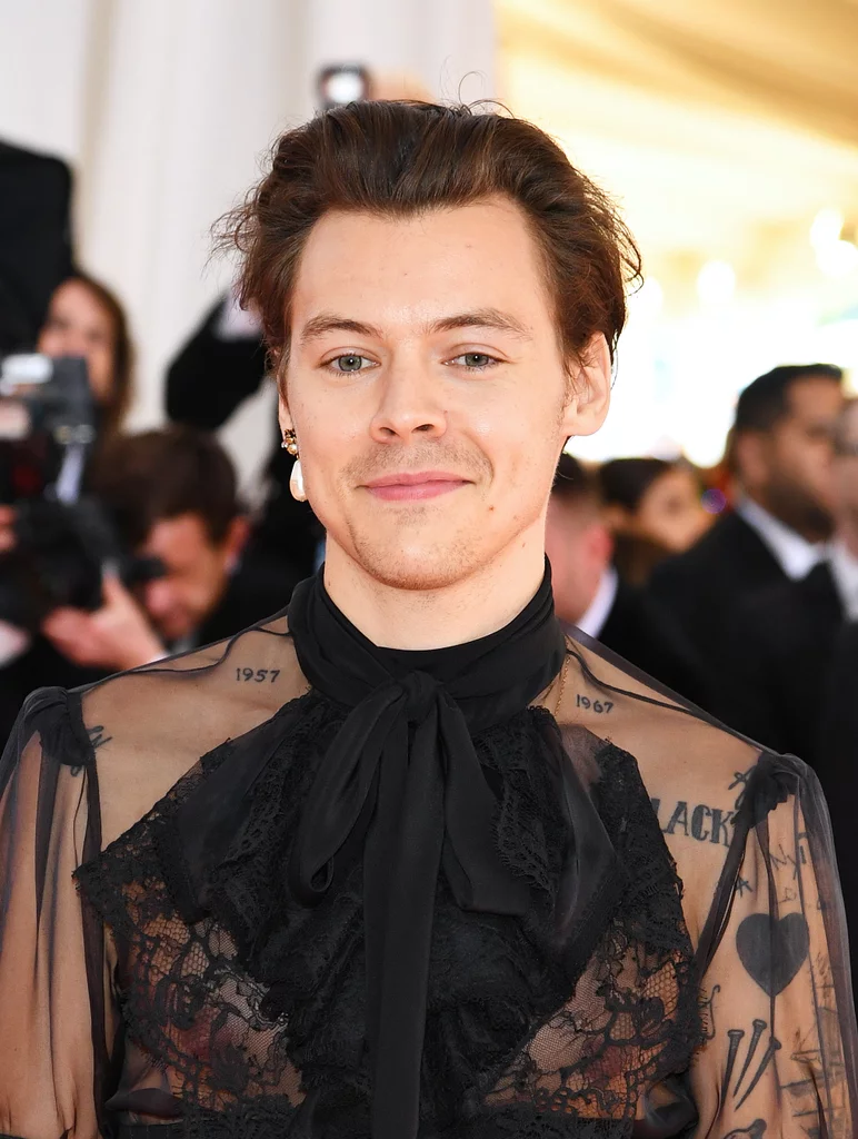 Harry Styles, the Boy With the Pearl Earring, Made His Met Gala Debut in a Glam All-Black Look