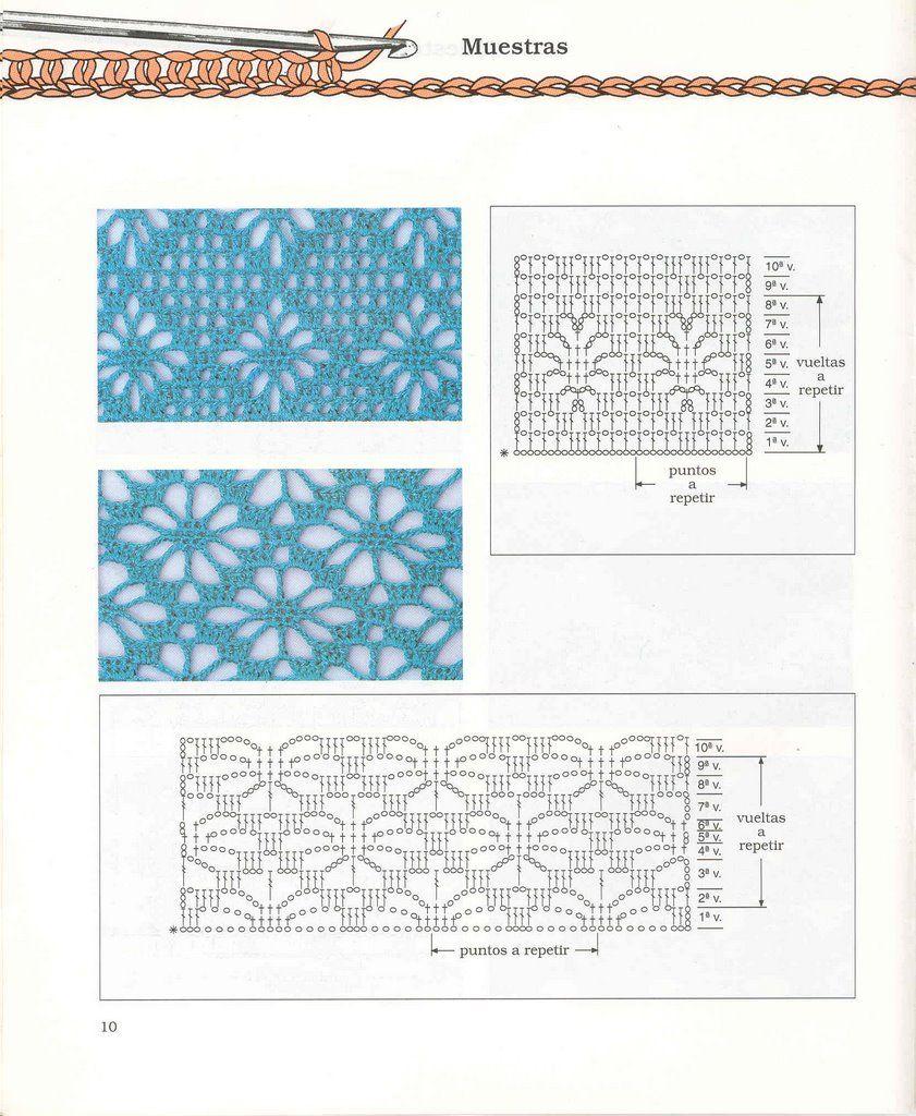 Puntos Diagramas Esquemas Patrones Crochet Ganchillo | cosas q ...