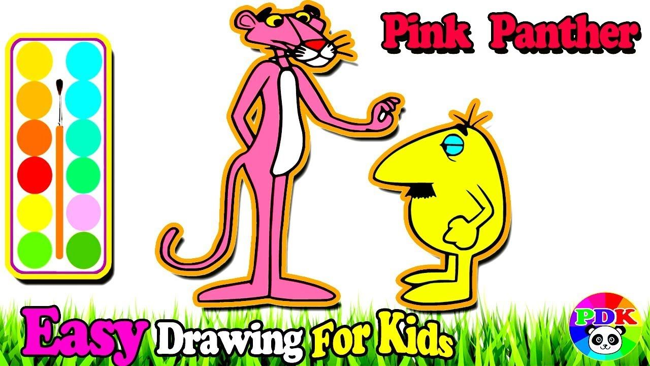 How To Draw Pink Panther Inspector Coloring Learn Painting Colors For Abc Coloring Pages Christmas Coloring Books Easy Drawings For Kids