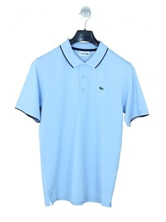 03109569b Lacoste Sport Tipped Collar Polo in Dream Blue - Northern Threads ...