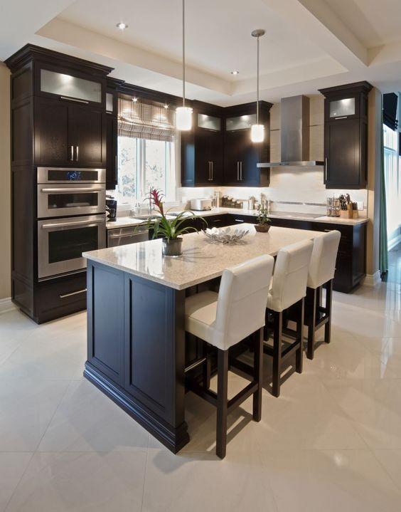 Inspiration déco pour cuisine avec îlot central\u2026 Plus Cocinas - Cuisine Design Avec Ilot Central