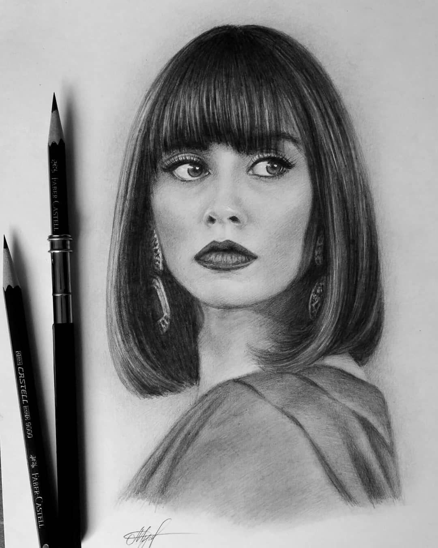 Tanya Musatenko Portrait Au Crayon Dessin Visage Dessin De Visage